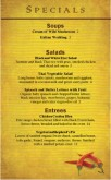 Mexican Food Specials Menu