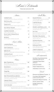 Customize Elegant Fine Dining Menu Long