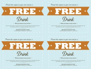Charming Customize Free Food Coupon Template