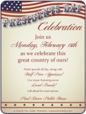 Presidents Day Specials Flyer