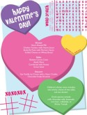 Kids Valentine Menu