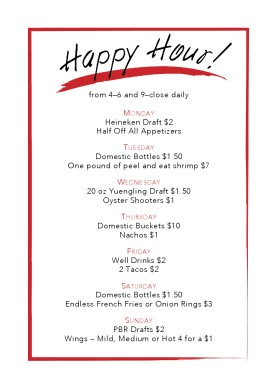 see all menu templates. Customize Happy Hour Table Tent  sc 1 st  MustHaveMenus & Happy Hour Table Tent | Happy Hour Menu
