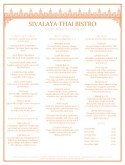 Thai Basil Menu