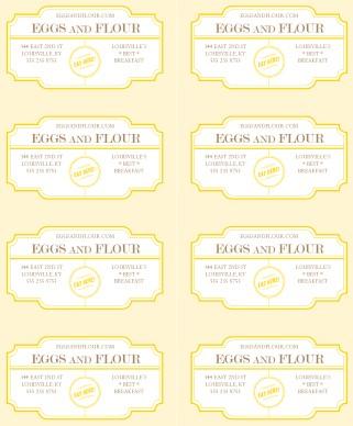 Breakfast Restaurant Business Card Marketing Archive
