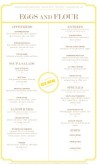 A Breakfast Menu Long