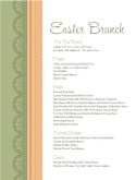Easter Brunch Buffet Menu