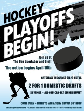 Customize Hockey Playoffs Flyer