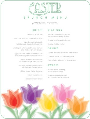 Customize Traditional Easter Brunch Menu