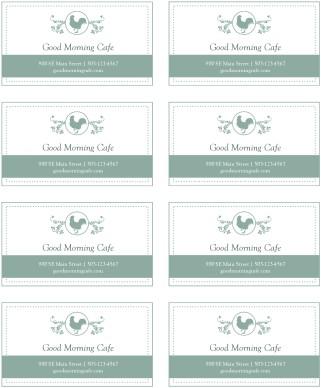 buffet card template