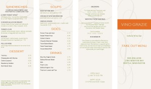 Customize City Wine Bar Takeout Menu