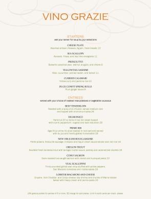 Customize City Fine Dining Menu