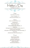 Spring Mothers Day Menu