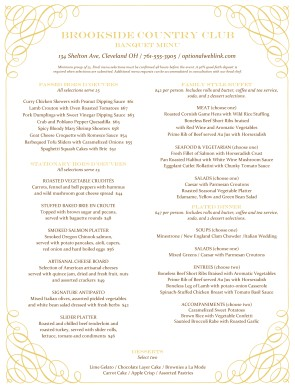 Customize Medieval Banquet Menu