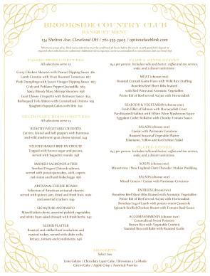 banquet menu template elita aisushi co
