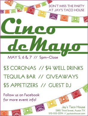 cinco de mayo party flyer templates word