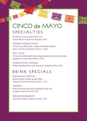 Happy Cinco De Mayo Table Tent Holiday Archive