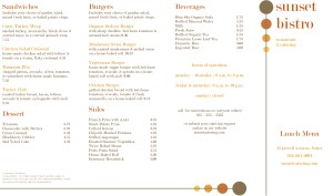 Customize Bistro Takeout Menu