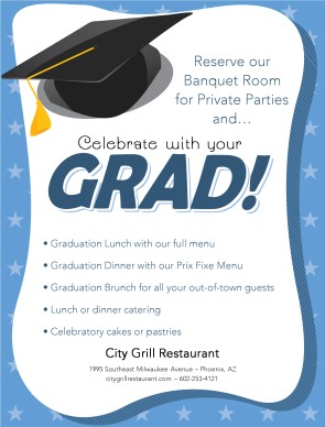 Customize Grad Flyer