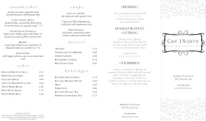 Customize Rococo French Takeout Menu