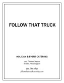 Catering Menu Cover