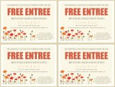 Bistro Coupon Template