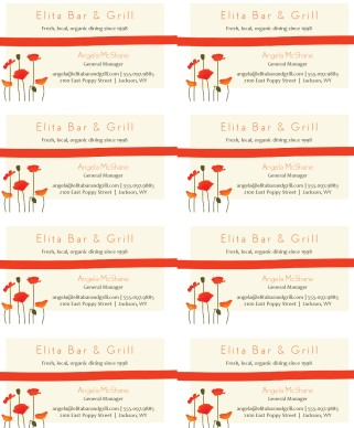 Cafe Bistro Business Card Design Templates by MustHaveMenus