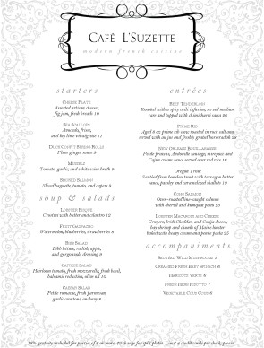 Customize French Gourmet Menu