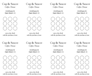 Coffee punch card marketing archive for Free punch card template