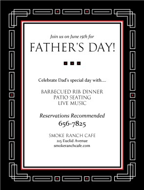 Fathers Day Dinner Flyer Fathers Day Flyers