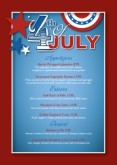 July 4th Party Table Tent