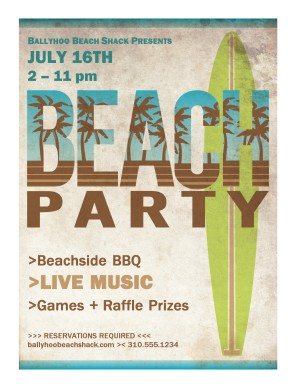 Customize Beach Party Flyer