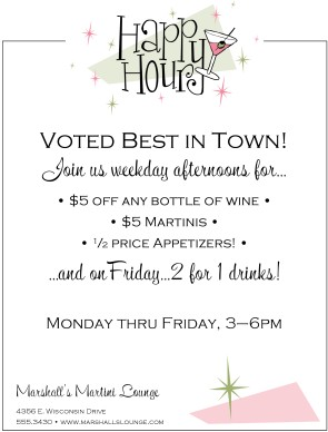 Customize Happy Hour Flyer