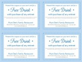 Family Restaurant Coupon Template