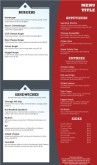 Italian Family Menu Long Page
