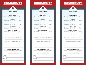Italian Family Comment Card Marketing Archive