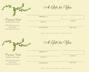 Italian Gift Certificate Marketing Archive - Restaurant gift certificate template
