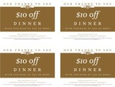 Cafe Restaurant Coupon