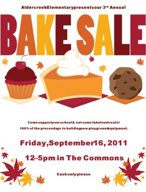 Elegant Customize Bake Sale Flyer Amazing Design