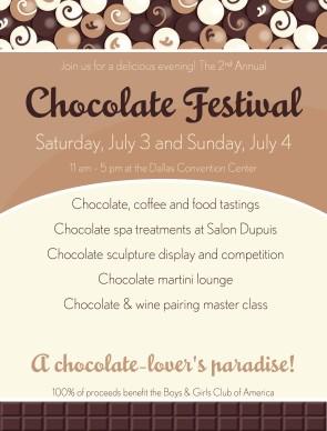 Chocolate Tasting Flyer Restaurant Flyer