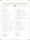 Vegetarian Restaurant Menu