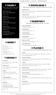 Customize Sample Mexican Menu Page 2