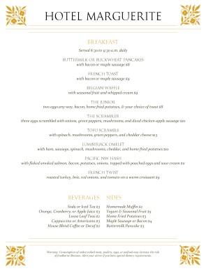Breakfast Menu Ideas For Restaurant