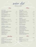 Sample Wine List