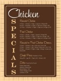 Chicken Menu