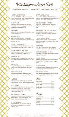 Customize Best Deli Menu