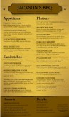Smokehouse BBQ Menu