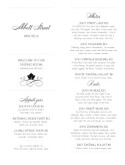 Winery Tasting Menu