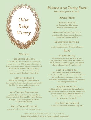 Customize Wine Cellar Menu