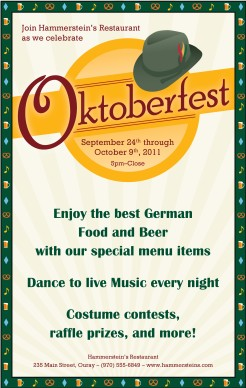 Customize Oktoberfest Beer Flyer