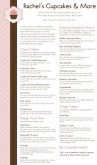 Cake Shop Menu Long